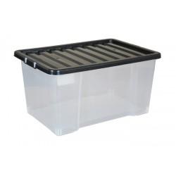 Plastic box for fragile goods or liquids